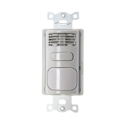 Hubbell AD2000GY1 Adaptive Dual Technology Wall Switch, 90sqm Coverage, Grey