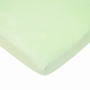 TL Care Heavenly Soft Chenille Fitted Bassinet Sheet, Celery