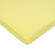 TL Care Supreme 100% Cotton Jersey Knit Fitted Bassinet Sheet, Maize