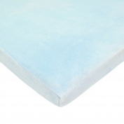 TL Care Heavenly Soft Chenille Fitted Bassinet Sheet, Blue