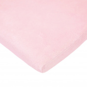 TL Care Heavenly Soft Chenille Fitted Bassinet Sheet, Pink