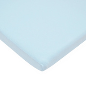 TL Care Supreme 100% Cotton Jersey Knit Fitted Bassinet Sheet, Blue