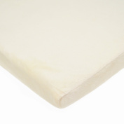 TL Care Heavenly Soft Chenille Fitted Bassinet Sheet, Ecru