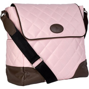 JP Lizzy Clara Nappy Bag in Strawberry Truffle 28cm . H x 28cm . W x 14cm . D