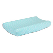 Teal Blue Baby Changing Pad Cover with Confetti Dots by The Peanut Shell