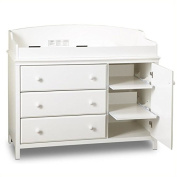 Pemberly Row 3 Drawer Wood Changing Table in White