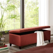 Madison Park Shandra Tufted Top Storage Bench Rust Red See below
