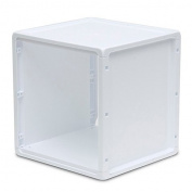 Plastic Storage Cube in White