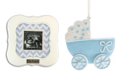 """""""Our Future"""" Sonogram Frame and Baby Carriage Ornament"""