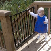 Cardinal Gates Stairway Special Outdoor Child Safety Gate /Model:SS30-ODWH-C /Designed for top of stairway use / Colour