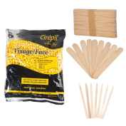 Cirepil Visage Face Wax (410ml) Kit, includes 100 X-Small and 60 Large Applicator Sticks ...