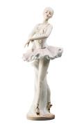 Ballerina in White Dancing Lady Ballet Dancer Porcelain Figurine Statuette Figure Collectibles