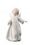 Dancing Little Baby Angel Cherub Porcelain Figurine Statuette Figure Christmas Collectibles