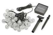 Radiance RAD-0003 30-LED Indoor/Outdoor 6m Clear Outdoor Solar String Globe Lights, Warm White