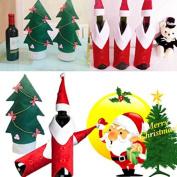 Pink Lizard Christmas Wine Bottle Cover Christmas Xmas Clothes Tree Bottle Coat Bottle Decoration