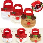 Pink Lizard Lovely Christmas Xmas Santa Clau Snowman Elk Gift Toy Candy Bag