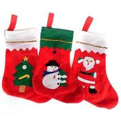Pink Lizard Non-woven Fabrics Santa Claus Socks Bag