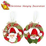 Pink Lizard Santa Claus Christmas Wreath Ornaments Festival Party Xmas Tree Hanging Decoration
