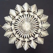 Large Straw Star on Card - 19cm