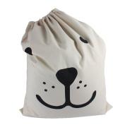 Moya Heavy Canvas Laundry Bag Toy Storage Pouch Homewares Laundry Wall Pocket Eyelet Bag