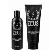 Zeus Beard Shampoo and Beard Conditioner Set for Men - (240ml Bottles) (Scent