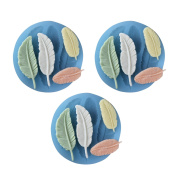 Baidecor Feathers Silicone Chocolate Moulds Candy Mould Set Of 3