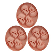 Baidecor Halloween Skulls Silicone Chocolate Moulds Candy Mould Set Of 3