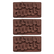Baidecor Music Note Silicone Chocolate Moulds Candy Mould Set Of 3
