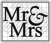 20cm Round - Mr & Mrs Wedding/Anniversary - Edible Image Cake/Cupcake Party Topper!!!