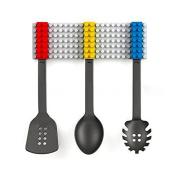 Pink Lizard 3Pcs Creative Block Cooking Utensils Spoon Fork Turner Cutlery Set Silicone Kitchenware Set