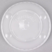 Dart Solo L12BLN-0100 350ml Translucent Flat Plastic Lid with Straw Slot and Identification Buttons - 2000/Case