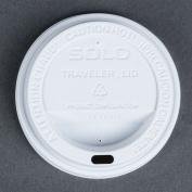 Dart Solo TL31R2-0007 300ml White Plastic Travel Lid - 100/Pack