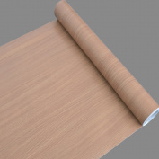 SimpleLife4U Wood Textured Contact Paper Adhesive Waterproof Shelf Liner Countertop Door Sticker 45cm by 4m