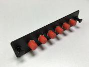 RiteAV FC Adapter Panel, 6 Ports, Loaded w/6 FC Simplex Multimode Adapters, Black