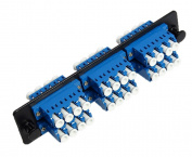 RiteAV LC Adapter Panel, 6 Ports, Loaded w/6 LC Quad Singlemode Adapters, Black