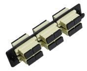 RiteAV SC Adapter Panel, 6 Ports, Loaded w/6 SC Duplex Multimode Adapters, Black
