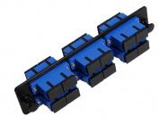 RiteAV SC Adapter Panel, 6 Ports, Loaded w/6 SC Duplex Singlemode Adapters, Black