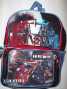 """Marvel Capain America """"Civil War"""" Kid's Backpack with Detachable Lunch Pack"""