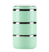 Ospard Stainless Steel Insulated Lunch Box 1860ml Green