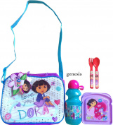 Dora The Explorer Insulated Shoulder Strap Lunch Bag With Dora The Explorer 3 Pc Lunch Kit Back To School Specials