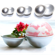 Joinor 3 Sets DIY Fizzy Bath Bomb Moulds Soap Making Kit Soap Moulds Perfectly Round, Make Your Own Lush & Fizzy Bath Balls. Reusable, Durable, Rust Resistant
