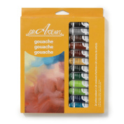 Grace Art Gouache Paint Set - 24 Vivid Colours, 10 ML Tubes - Ideal For Beginners, Students Or Artist - Excellent Coverage On Paper, Canvas, Wood, Fabric And More .....