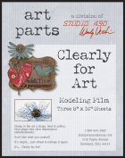 Wendy Vecchi Clearly For Art Modelling Film Sheets 3/Pkg-Clear, 20cm x 25cm