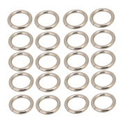 BQLZR Silvery Metal Heavy Welded O Ring O Shaped Belt Buckle for Purses Bags Backpack Straps Pack of 20