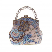 Covelin Women's Vintage Clutch Handbag Flower Beaded Evening Tote Bag Hot