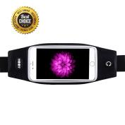 AOOK Running Belt Waist Pack, Zipper Design/ Transparent Touch Screen Window/ Headphone Jack Fit for 12cm /14cm iPhone 6, 6S,6 Plus, 6S Plus, Samsung Galaxy S5,S6, S7,Edge, Note 3,4,5