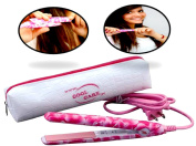 No Frizzy Hair! Yes… Quick High Heat Mini Tourmaline Ceramic Flat Iron, Salon Quality Mini Flat Iron for Travel w/ Heat Resistant Pouch. Tourmaline Plates Lay Hair Flat for a High Shine & Smoothness