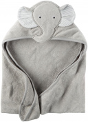 Carter's Hooded Bath Towel - Little Elephant - Grey