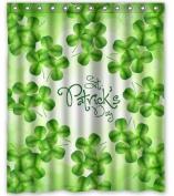 Unique Custom Happy St. Patrick's Day Waterproof fabric Polyester Shower Curtain 150cm x 180cm -Bathroom Decor