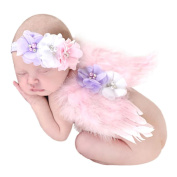XILALU Newborn Baby Angel Feather Wing Set Butterfly Wings Photo Prop Girls Hair Accessories
